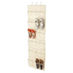 over the door shoe holder clear target