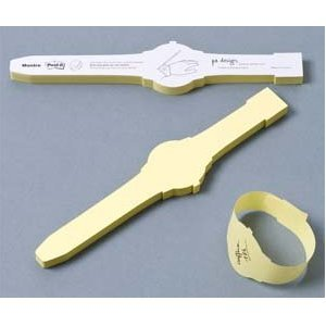 never be late again with these sticky note watches!