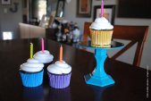 colorful cupcake pedestals