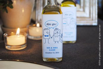 olive oil label wedding favors